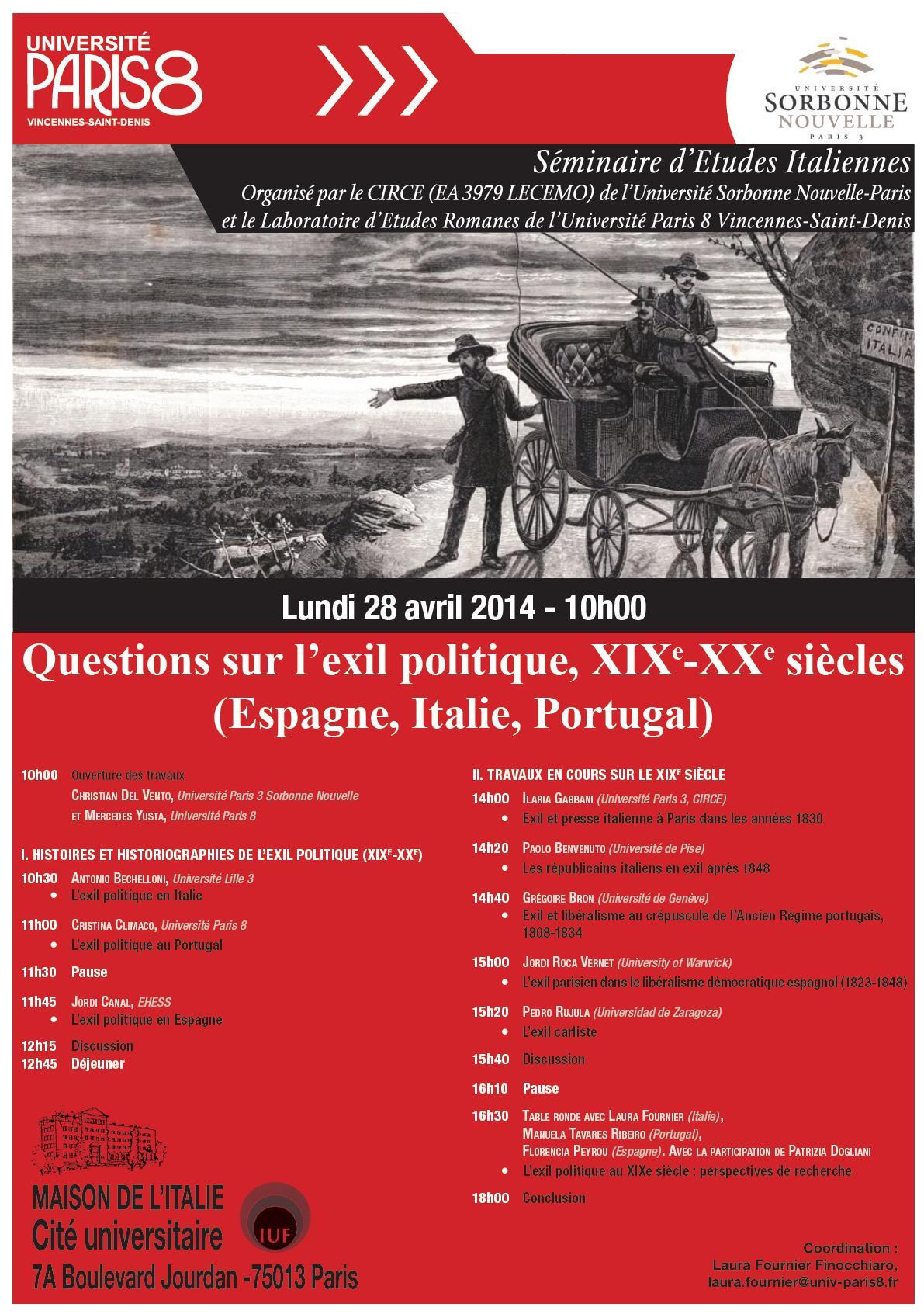 Questions sur l'exil politique